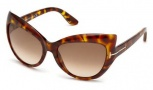 Tom Ford FT0284 Bardot Sunglasses Sunglasses - 52F Dark Havana / Gradient Brown