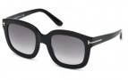 Tom Ford FT0279 Christophe Sunglasses Sunglasses - 01B Shiny Black / Gradient Smoke