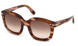 Tom Ford FT0279 Christophe Sunglasses Sunglasses - 48Z Shiny Dark Brown / Gradient