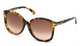Tom Ford FT0275 Alicia Sunglasses Sunglasses - 56B Havana / Gradient Smoke