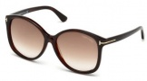 Tom Ford FT0275 Alicia Sunglasses Sunglasses - 52F Dark Havana / Gradient Brown