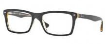 Ray-Ban RX5287 Eyeglasses Eyeglasses - 5373 Top Brown on Transparent Yellow