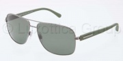 Dolce & Gabbana DG2122 Sunglasses Sunglasses - 11889A Gunmetal / Polarized Green