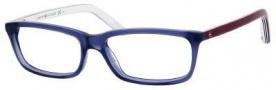 Tommy Hilfiger T_hilfiger 1047 Eyeglasses Eyeglasses - Blue / Burgundy White