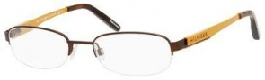 Tommy Hilfiger T_hilfiger 1164 Eyeglasses Eyeglasses - Dark Brown / Yellow