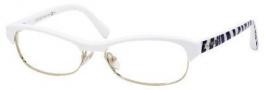 Jimmy Choo 44 Eyeglasses Eyeglasses - White Gold Zebra