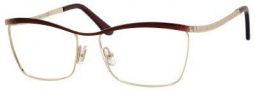 Jimmy Choo 62 Eyeglasses Eyeglasses - Rose Gold / Chocolate