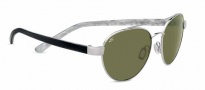 Serengeti Mondello Sunglasses Sunglasses - 7776 Shiny Silver / Polarized 555nm
