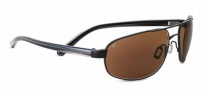 Serengeti Livigno Sunglasses Sunglasses - 7769 Satin Black / Grey Stripe / Polarized Drivers