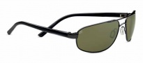 Serengeti Livigno Sunglasses Sunglasses - 7770 Shiny Gunmetal / Grey Stripe / Polarized 555nm