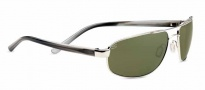 Serengeti Livigno Sunglasses Sunglasses - 7772 Shiny Silver / Smoke Stripe / Polarized 555nm