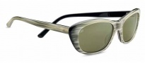 Serengeti Bagheria Sunglasses Sunglasses - 7788 Creme Stripe Black Lam / Polarized 555nm