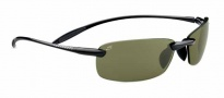 Serengeti Luca Sunglasses Sunglasses - 7800 Shiny Black / Polar PhD 555nm