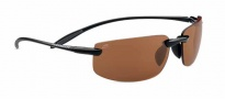 Serengeti Lipari Sunglasses Sunglasses - 7804 Shiny Black / Black Satin Fade / Polar PhD Drivers
