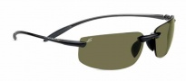 Serengeti Lipari Sunglasses Sunglasses - 7805 Shiny Black / Polar PhD 555nm