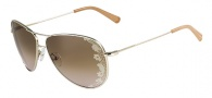 Valentino V101S Sunglasses Sunglasses - 718 Light Gold