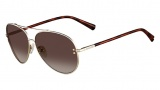 Valentino V106S Sunglasses Sunglasses - 718 Light Gold