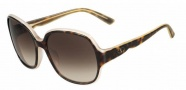 Valentino V601S Sunglasses Sunglasses - 230 Dark Havana Rose