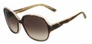 Valentino V601S Sunglasses Sunglasses - 230 Dark Havana Rose
