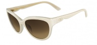 Valentino V602S Sunglasses Sunglasses - 107 Ivory Cream