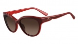 Valentino V602S Sunglasses Sunglasses - 612 Rouge Noir / Brown