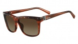 Valentino V606S Sunglasses Sunglasses - 236 Striped Brown