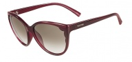 Valentino V607S Sunglasses  Sunglasses - 606 Rouge Noir