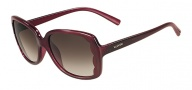 Valentino V608S Sunglasses Sunglasses - 606 Rouge Noir