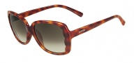 Valentino V608S Sunglasses Sunglasses - 725 Blonde Havana