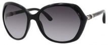 Jimmy Choo Justine/S Sunglasses Sunglasses - Shiny Black