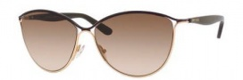 Jimmy Choo Tanis/S Sunglasses Sunglasses - 0XC6 Brown (JD Brown Gradient Lens)