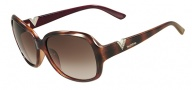 Valentino V613SR Sunglasses Sunglasses - 216 Havana / Red Metalized