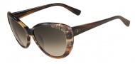 Valentino V617S Sunglasses Sunglasses - 261 Beige Horn