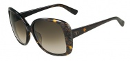 Valentino V618S Sunglasses Sunglasses - 215 Dark Havana