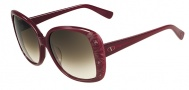 Valentino V618S Sunglasses Sunglasses - 606 Rouge Noir