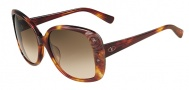 Valentino V618S Sunglasses Sunglasses - 725 Blonde Havana