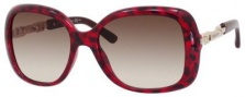 Jimmy Choo Wiley/S Sunglasses Sunglasses - Havana Burgundy