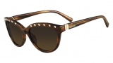 Valentino V622S Sunglasses Sunglasses - 236 Striped Brown