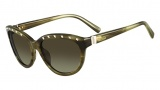 Valentino V622S Sunglasses Sunglasses - 305 Striped Khaki