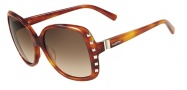 Valentino V623S Sunglasses Sunglasses - 725 Blonde Havana