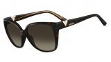 Valentino V624S Sunglasses Sunglasses - 214 Havana