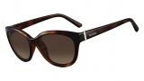 Valentino V625S Sunglasses Sunglasses - 214 Havana