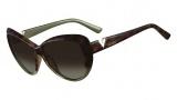 Valentino V625S Sunglasses Sunglasses - 232 Havana Sage
