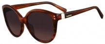 Valentino V626S Sunglasses Sunglasses - 215 Dark Havana