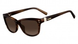 Valentino V627S Sunglasses Sunglasses - 236 Striped Brown