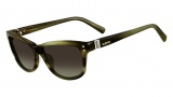 Valentino V627S Sunglasses Sunglasses - 305 Striped Khaki