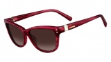Valentino V627S Sunglasses Sunglasses - 526 Striiped Fuchsia