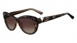 Valentino V628S Sunglasses Sunglasses - 201 Brown Pearl