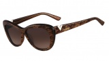 Valentino V628S Sunglasses Sunglasses - 204 Chocolate Pearl
