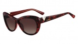 Valentino V628S Sunglasses Sunglasses - 619 Red Pearl